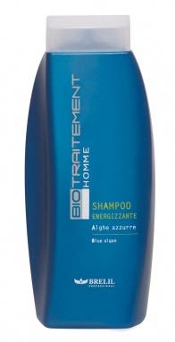 Homme shampooing énergisant algues bleues